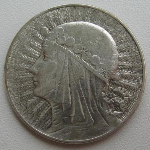 Rzeczpospolita polska 1933 года 10 zlotych цена ниуэ, 2 доллара, 2014г ангел хранитель