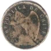 Coin > 5 centavos, 1899-1907 - Chile  - reverse
