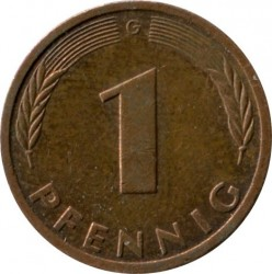 Coin > 1 pfennig, 1985 - Germany  - obverse