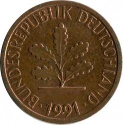 Münze > 1Pfennig, 1991 - Deutschland  - obverse