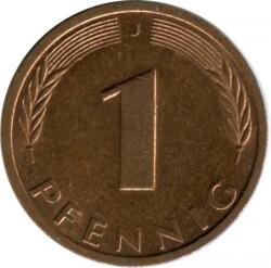 Münze > 1Pfennig, 1991 - Deutschland  - reverse