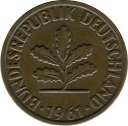 Coin > 2pfennig, 1961 - Germany  - obverse