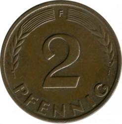Coin > 2pfennig, 1961 - Germany  - reverse