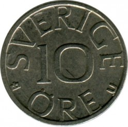Mynt > 10ore, 1982 - Sverige  - obverse