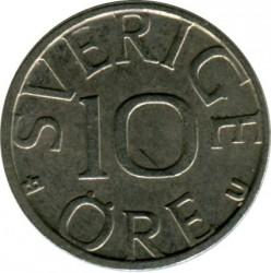 Mynt > 10ore, 1982 - Sverige  - reverse
