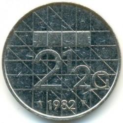 Coin > 2½gulden, 1982-2001 - Netherlands  - reverse