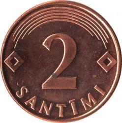 מטבע > 2סנטים, 1992-2009 - לטביה  - reverse