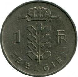 "Minca > 1frank, 1959 - Belgicko  (Nadpis v holandčine - ""BELGIE"") - reverse"
