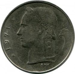 """Minca > 1frank, 1971 - Belgicko  (Nadpis v holandčine - """"BELGIE"""") - obverse"""