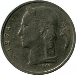 """Moneda > 1franco, 1974 - Bélgica  (Leyenda en holandés: """"BELGIE"""") - obverse"""