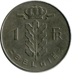 """Moneda > 1franco, 1974 - Bélgica  (Leyenda en holandés: """"BELGIE"""") - reverse"""