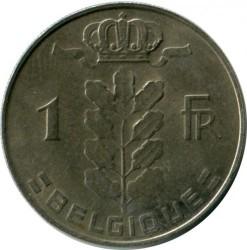 Coin > 1franc, 1976 - Belgium  (Legend in French - 'BELGIQUE') - obverse