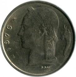 Coin > 1franc, 1976 - Belgium  (Legend in French - 'BELGIQUE') - reverse