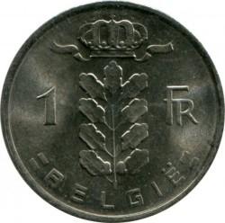 "Minca > 1frank, 1979 - Belgicko  (Nadpis v holandčine - ""BELGIE"") - reverse"