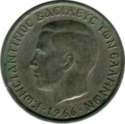 Moneda > 1dracma, 1966-1970 - Grecia  - obverse