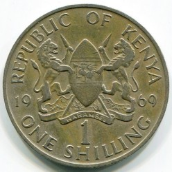 Coin > 1shilling, 1969-1978 - Kenya  - reverse