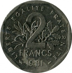 Coin > 2francs, 1981 - France  - obverse