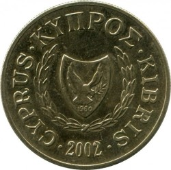 Moneda > 10 cents, 1991-2004 - Xipre  - reverse