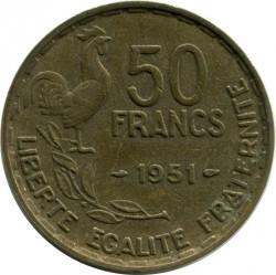 Moneta > 50franków, 1950-1958 - Francja  - reverse