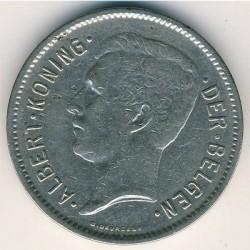Münze > 5Franken, 1930-1933 - Belgien  (Legend in Dutch - 'ALBERT KONING DER BELGEN') - obverse