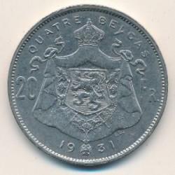 Münze > 20Franken, 1931-1932 - Belgien  (Legend in French - 'ALBERT ROI DES BELGES') - reverse