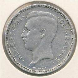 Minca > 20francs, 1933-1934 - Belgicko  (Legend in French - 'ALBERT ROI DES BELGES') - obverse