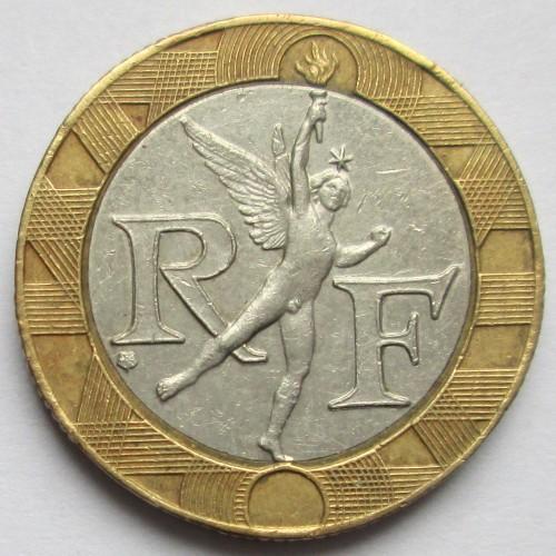 10 франков 1991 года цена сколько стоит рубль 1898 г