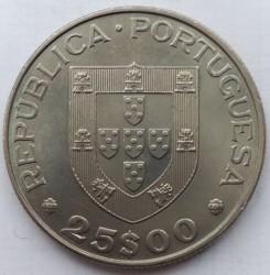 Moneta > 25scudi, 1982 - Portogallo  (Anno internazionale delle persone disabili) - obverse