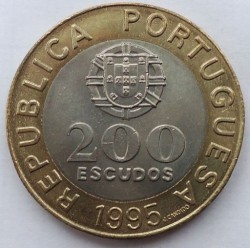 Moneda > 200escudos, 1995 - Portugal  (50 Aniversario - Naciones Unidas) - obverse