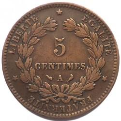 Monedă > 5centime, 1871-1898 - Franța  - reverse