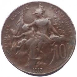 Moneda > 10centimes, 1898-1921 - França  - reverse