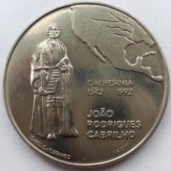 Մետաղադրամ > 200էսկուդո, 1992 - Պորտուգալիա  (450th Anniversary - Discovery of California) - reverse