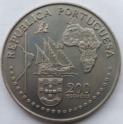 Moneta > 200scudi, 1994 - Portogallo  (500th Anniversary of Treaty of Tordesillas) - obverse