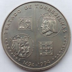 Moneta > 200scudi, 1994 - Portogallo  (500th Anniversary of Treaty of Tordesillas) - reverse