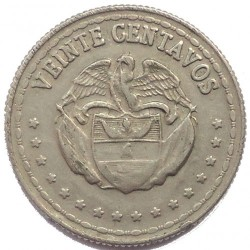 Coin > 20 centavos, 1956-1966 - Colombia  - obverse