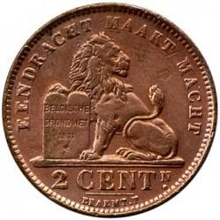 Mynt > 2centimes, 1910-1919 - Belgia  (Legend in Dutch - 'ALBERT KONING DER BELGEN') - reverse