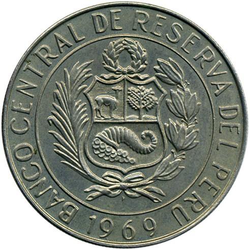 10 Soles 1969 Peru Münzen Wert Ucoinnet