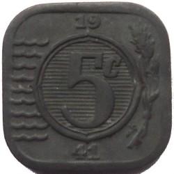 Monēta > 5centi, 1941-1943 - Nīderlande  - reverse