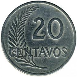 Монета > 20сентавос, 1918-1941 - Перу  - reverse