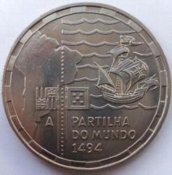 Moneda > 200escudos, 1994 - Portugal  (500 aniversario - El reparto del mundo) - reverse