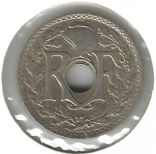 5 Centimes 1927 Loch In Der Mitte Frankreich Münzen Wert