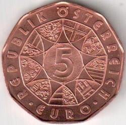 Moneda > 5euros, 2014 - Austria  (Nuevo Año) - obverse
