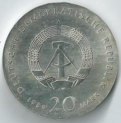 Moneda > 20marcos, 1989 - Alemania - RDA  (500º Aniversario - Muerte de Thomas Müntzer) - obverse