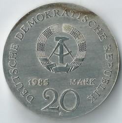 Moneda > 20marcos, 1985 - Alemania - RDA  (125º Aniversario - Muerte de Ernst Moritz Arndt) - obverse
