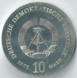 Moneda > 10marcos, 1978 - Alemania - RDA  (175º Aniversario - Nacimiento de Justus von Liebig) - reverse