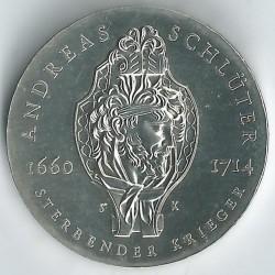 Moneda > 20marcos, 1990 - Alemania - RDA  (275º Aniversario - Muerte de Andreas Schlüter) - reverse