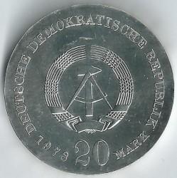 Moneda > 20marcos, 1978 - Alemania - RDA  (175º Aniversario - Muerte de Johann Gottfried Herder) - obverse