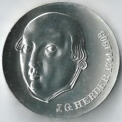 Moneda > 20marcos, 1978 - Alemania - RDA  (175º Aniversario - Muerte de Johann Gottfried Herder) - reverse