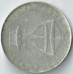 Moneda > 20marcos, 1980 - Alemania - RDA  (75º Aniversario - Muerte de Ernst Karl Abbe) - obverse