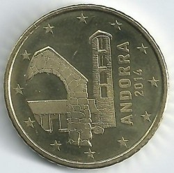 Coin > 50cents, 2014-2015 - Andorra  - reverse
